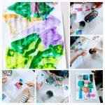 Ribice - circles, squares and triangles, učenje geometrijskih likova kroz likovnu aktivnost, razvoj spoznaje o miješanju boja, poticanje kreativnosti, usvajanje novih pojmova na engleskom jeziku