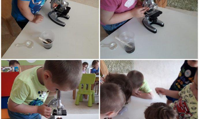 Leptirići - istraživačke aktivnosti, promatranje vode iz potoka pod mikroskopom, razvoj spoznaje, logičkog zaključivanja