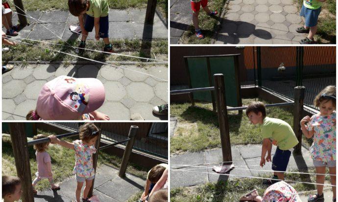 Leptirići - boravak na zraku, igra gumi-gumi, razvoj suradnje, koordinacije, ravnoteže