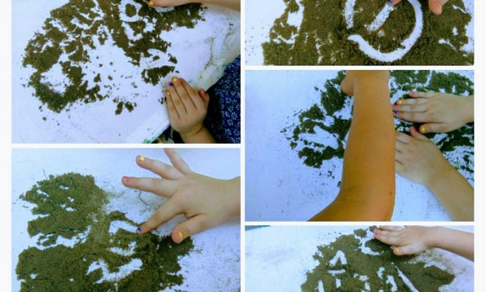 Ribice - igre u parku, pisanje prstima u pijesku, razvoj senzomotorike i kreativnosti