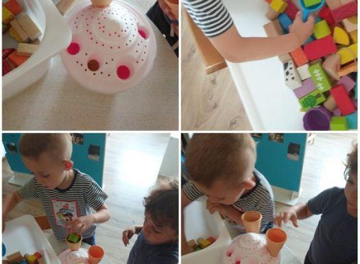 Zečići - simbolička igra restorana i izrada sladoleda, razvoj kreativnosti, suradnje, fine motorike i komunikacije