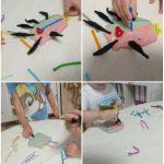 Zečići - oblikovanje riba od raznih masa za modeliranje i pedagoški neoblikovanih materijala, poticaj razvoja kreativnosti, taktilne percepcije