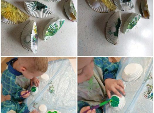 Zečići - likovna aktivnost, izrada školjke s biserima, poticaj razvoja kreativnosti, spoznaje i fine motorike