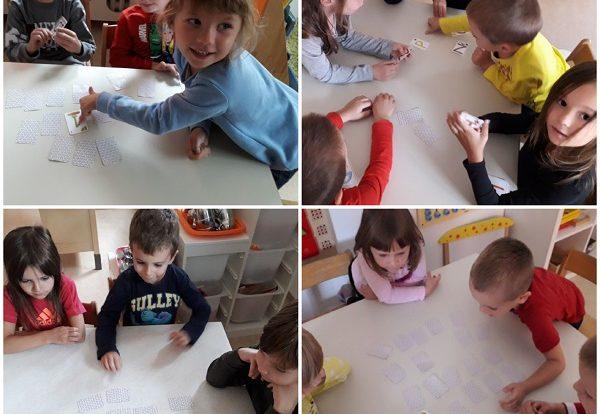 Ribice - stolno-manipulativna igra Memory, usvajanje brojeva, razvoj logičkog mišljenja, pažnje, koncentracije i strpljivosti