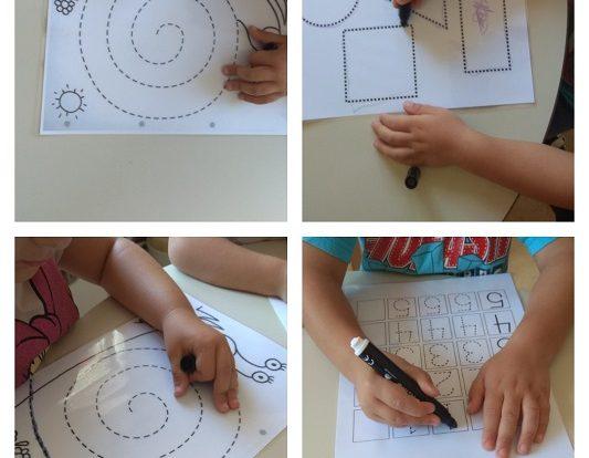 Leptirići - poticaj razvoja grafomotorike na papiru piši - briši