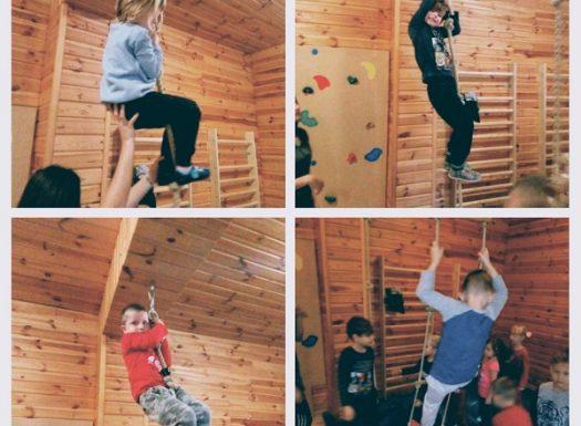 Ribice - sportske aktivnosti u dvorani, penjanje po konopu, mornarskim i švedskim ljestvama, razvoj snage, koordinacije, ravnoteže