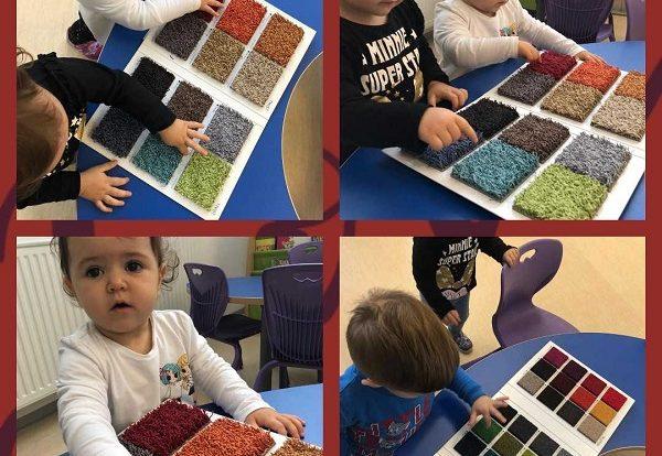 Lavići - taktilna ploča, istraživanje teksture, razvoj fine motorike šake, prepoznavanje boja