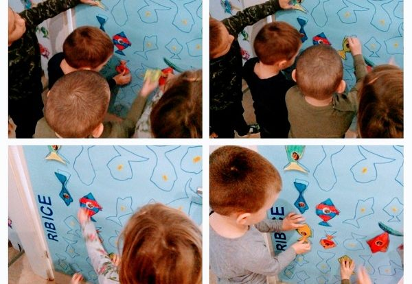 Ribice - Check in, check out plakat s ribicama, razvoj vizualne percepcije te pamćenja i uočavanja