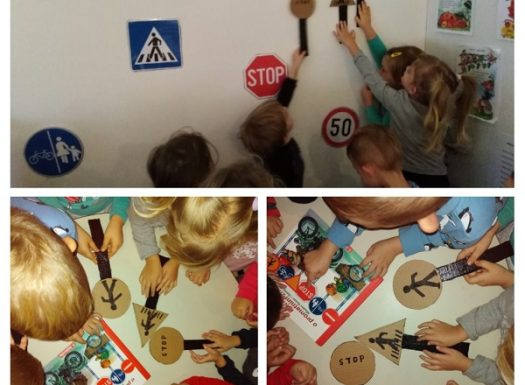 Leptirići - nastavak rada na projektu Promet - zajednička izrada prometnih znakova, poticanje međusobne suradnje