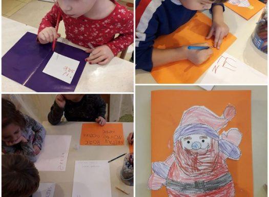 Ribice - likovno kreativna aktivnost, izrada čestitki za Božić, njegovanje starih običaja pisanja i ukrašavanja čestitki