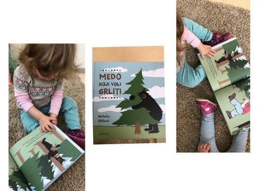 Lavići - slikovnica Medo koji voli grliti koja potiče međusobnu interakciju djece, poticanje na rano čitanje i dramatiziranje