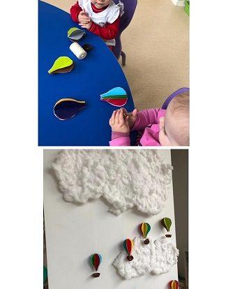 Lavići - zajednički rad odgojitelja i djece - izrada balona u boji te učenje i imenovanje boja