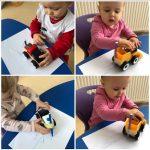 Lavići - crtanje po papiru pomoću autića koji ostavlja trag