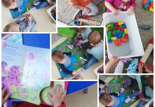 Žirafice - samostalan odabir aktivnosti u sobi dnevnog boravka, poticanje razvoja suradnje i dijeljena