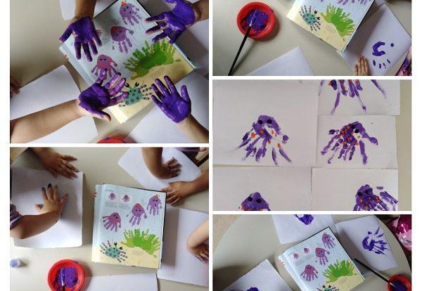Leptirići - poticanje na likovno - kreativno izražavanje, otisci uz pomoć tempere - meduza