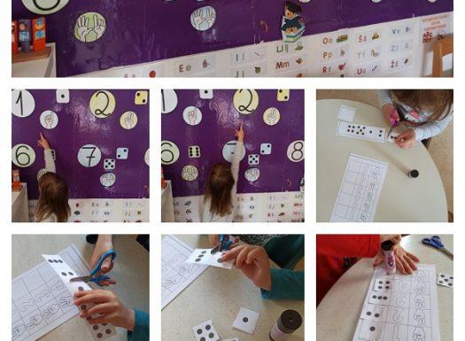 Leptirići - učenje i ponavljanje brojeva uz pano s brojevima i materijalima za izrezivanje, poticaj razvoja spoznaje, fine motorike i koncnetracije