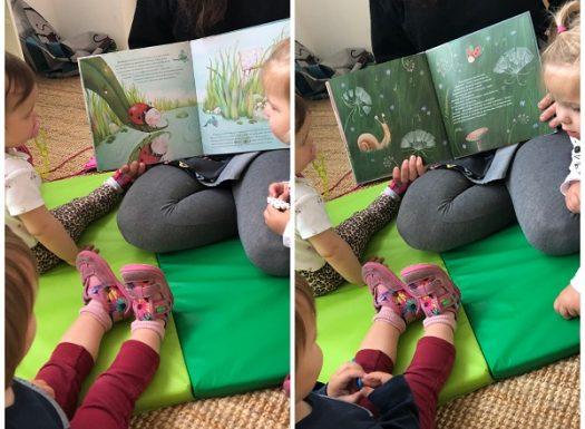 Žirafice - čitanje slikovnice Nezadovoljna bubamara, poticaj razvoja govora i pažnje