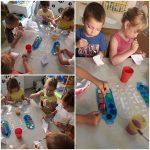 Ribice - razvoj motorike šake i prstiju, origami - izrada brodova i oslikavanje istih vodenim bojama