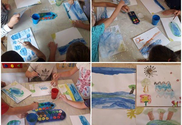 Ribice - obilježavanje Dana hrvatskih voda uz likovnu aktivnost, slikanje vodenim bojama, razvoj fine motorike, kreativnosti