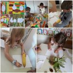 Ribice - Likovna aktivnost, kombinacija različitih likovnih tehnika, obilježavanje prvog dana jeseni, slikanje, crtanje i bojanje plodova jeseni