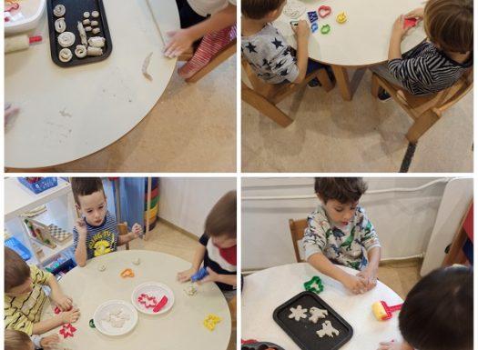 Leptirići - obilježavanje Dana kruha kroz modeliranje i izradu kolača i peciva od glinamola, poticaj razvoja taktilne percepcije, kreativnosti i senzorike