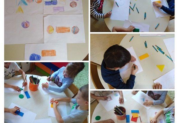 Leptirići - poticanje na prepoznavanje i imenovanje geometrijskih oblika kroz likovno izražavanje