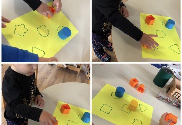 Žirafice - proučavanje geometrijskih oblika kroz igru, imenovanje određenog oblika, te povezivanje oblika sa skicom, poticanje razvoja koncentracije i pažnje