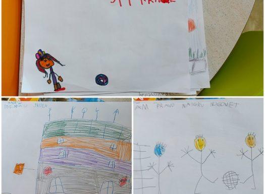 Ribice - obilježavanje Međunarodnog dana dječjih prava uz likovnu aktivnost na temu Imam pravo na..., razvoj kreativnosti, fine motorike