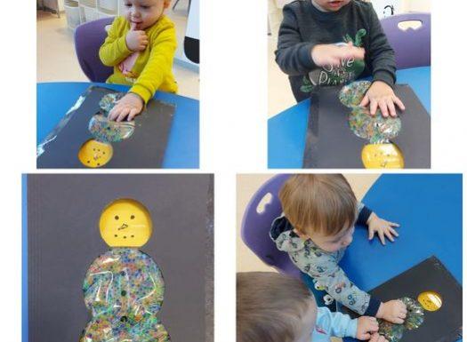 Žirafice-senzoricki snjegovic od hidrogel kuglica- poticanje djecje radoznalosti, slobode istrazivanja i eksperimentiranja pomocu osjetila dodira i vida