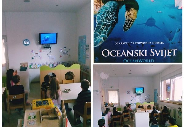 Ribice - Oceanworld, watching the documentary about sea life