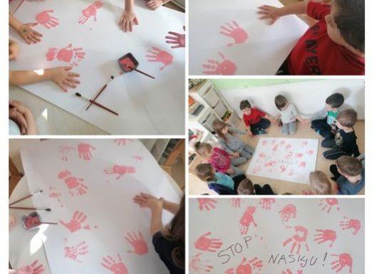 Leptirići- obilježavanje Dana borbe protiv vršnjačkog nasilja (Dan ružičastih majica), razgovor na temu kako osigurati sigurno i bezbrižno djetinjstvo