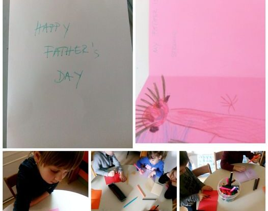 Leptirići engleski -Father's day making a greeting cards for fathers