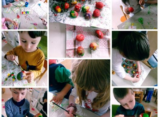 Ribice - Easter decorations, painting eggs, making small greeting cards
