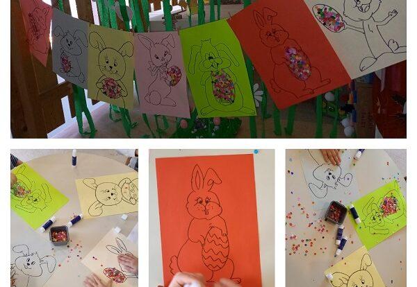 Leptirići - uređenje garderobnog prostora; poticanje na kreativnost, vizualnu percepciju i timski rad