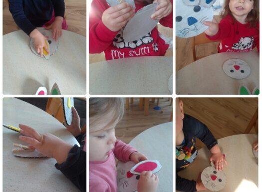 Zečići - poticanje razvoja pincetnog hvata te prepoznavanje i pridruživanje boja