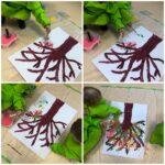 Žirafice - zajednička likovna aktivnost temperama; Drvo u cvatu; otiskivanje boje pomoću plastične boce i kistova na platno, razvoj okulomotorike i hvata, poticanje kreativnosti i suradnje