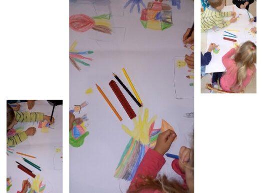 Leptirići - likovni centar; poticanje na razvoj fine motorike, vizualne percepcije i kreativnosti