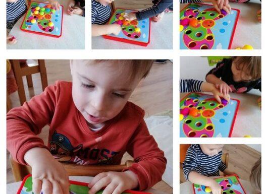 Zečići - interaktivna igra; poticanje na strpljivost, zajedništvo, prepoznavanje i pridruživanje boja. Povezivanje motiva iz pjesme Leptir