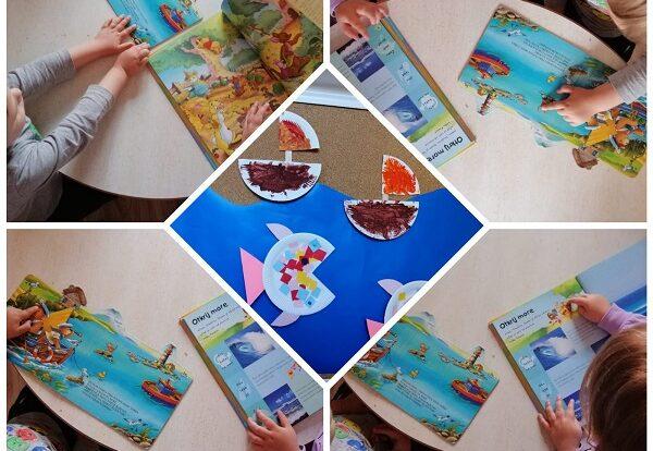 Zečići - slikovnica Medvjedić na moru; obogaćivanje rječnika i prepoznavanje morskih motiva