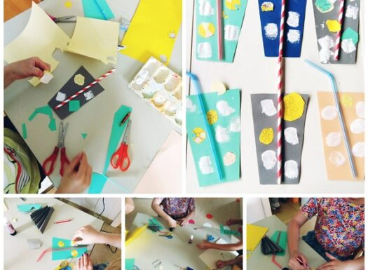 Ribice - paper lemonade craft, making cold summer drink from collage paper