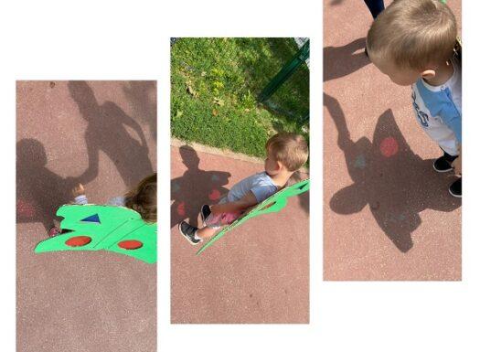 Žirafice - istraživačka aktivnost svjetla i sjene na otvorenom; uočavanje i razlikovanje boja i geometrijskih oblika na sunčevoj svjetlosti
