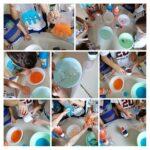 Ribice i Leptirići - istraživanje i manipuliranje vodom, bojom i pjenom. Poticanje spoznajnog razvoja i znanstvenog načina razmišljanja