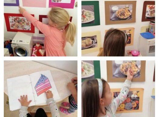 Leptirići - upotpunjavanje kuhinjskog centra novim fotografijama raznih jela, obogaćivanje rječnika i poticanje na maštu kroz simboličku igru