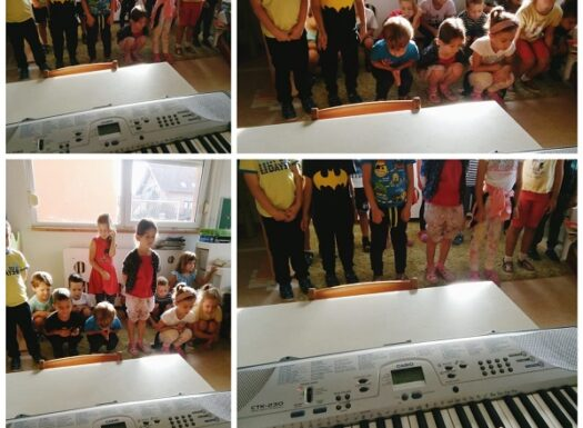Ribice - glazbena igra dan-noć s tonovima. Poticanje razvoja slušne percepcije te jačanje mišića nogu