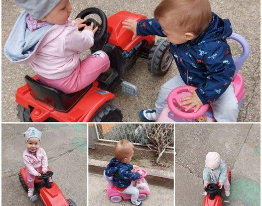 Bubamare - boravak na zraku, vožnja autićima, razvoj suradnje, upornosti, cjelokupne motorike