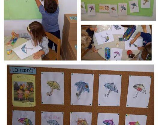 Leptirići - Likovna aktivnost, poticanje razvoja fine motorike,vizualne percepcije i kreativnosti