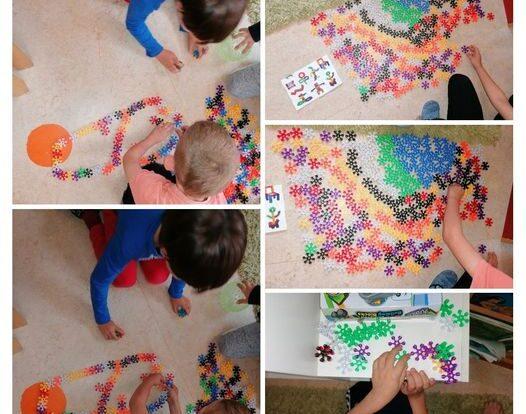 Ribice - zajednička spontana igra, slaganje prema šabloni, poticanje na suradnju i međusobnu interakciju