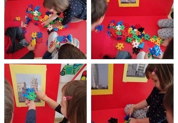 Leptirići- gradnja tornjeva različitih oblika; poticanje na upornost te razvoj okulomotorike