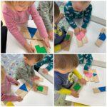Žirafice - slagarica geometrijskih likova sa svrhom prepoznavanja boja i oblika. Razvoj vizualne percepcije, okulomotorne koordinacije te poticanje govora
